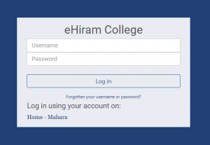 Pic: A screen capture of the Moodle log in screen.
